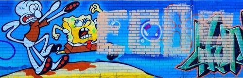 街道艺术蒙特利尔标记 库存照片