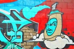 街道艺术蒙特利尔标记 库存图片