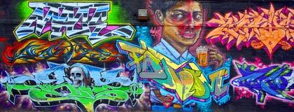 街道艺术蒙特利尔标记 免版税图库摄影