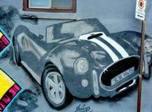 街道艺术蒙特利尔汽车 库存照片