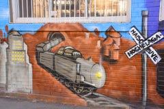 街道艺术蒙特利尔火车 图库摄影