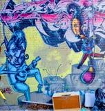 街道艺术蒙特利尔爵士乐队 库存图片