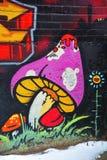 街道艺术蒙特利尔蘑菇 库存图片
