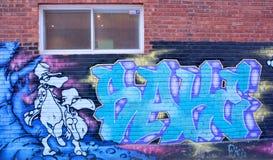 街道艺术蒙特利尔雕 库存照片