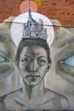 街道艺术蒙特利尔面对 免版税库存图片