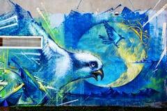 街道艺术蒙特利尔鸟 库存照片