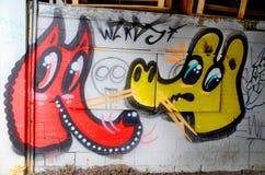 街道艺术蒙特利尔 免版税库存照片