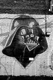 街道艺术蒙特利尔Darth Vador 免版税库存照片