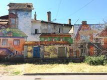 街道艺术街道画在傲德萨 免版税库存图片