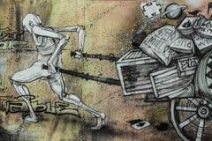 街道艺术西班牙 免版税图库摄影