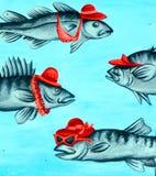 街道艺术鱼 免版税库存图片