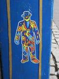 街道艺术,人,雷克雅未克,冰岛 免版税图库摄影
