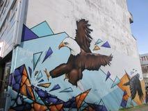 街道艺术,老鹰,雷克雅未克,冰岛 库存图片