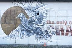 街道艺术,鸽子 库存照片