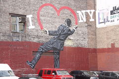 街道艺术, I心脏纽约 库存照片