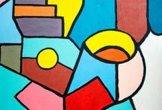 街道艺术-在墙壁上的抽象绘画 创造性的背景 库存图片