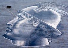 街道艺术水星罗马神 库存照片