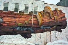 街道艺术滑稽的鼠 免版税库存图片