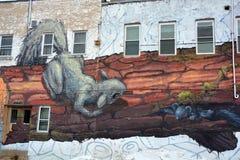 街道艺术滑稽的鼠 免版税库存照片