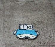 街道艺术-胖子 免版税库存图片
