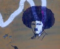 街道艺术-蓬松卷发希特勒 免版税库存图片