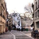 巴黎街道艺术 免版税库存照片