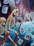 街道艺术FLQ骨骼 免版税库存图片
