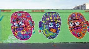 街道艺术Mur罗莎・帕克斯的壁画在巴黎 免版税库存图片