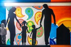 街道艺术Southbank墨尔本 免版税库存照片