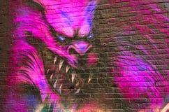 街道艺术werewolfe 库存照片