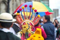 街道节日在基多,厄瓜多尔 库存图片