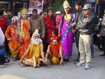 街道节日,印度教佛教 库存图片