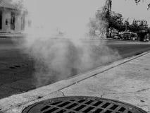 街道蒸汽 库存照片