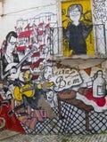街道街道画-里斯本 免版税库存图片