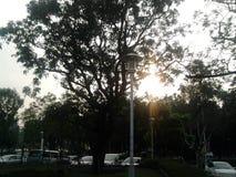 街道视图在下午4点在台湾 库存图片