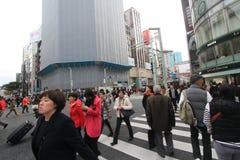 街道视图在东京 免版税库存图片