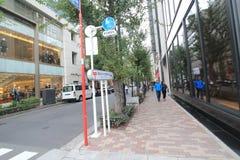 街道视图在东京 库存图片