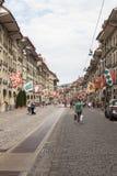 街道视图在伯尔尼市 免版税库存照片