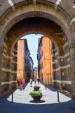 街道视图在卢卡,托斯卡纳,意大利 图库摄影