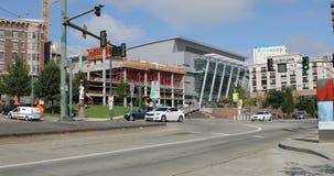 街道视图在塔科马,华盛顿 库存图片