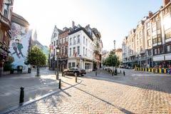 街道视图在布鲁塞尔 免版税库存图片