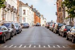 街道视图在布鲁塞尔 库存图片