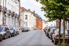 街道视图在布鲁塞尔 图库摄影