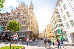 街道视图在慕尼黑 免版税图库摄影