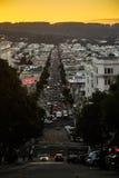 街道视图在旧金山 免版税库存图片