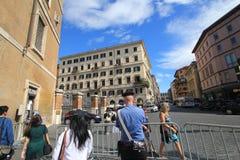 街道视图在罗马,意大利 库存照片