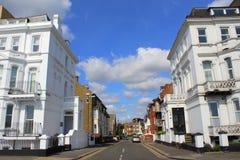 街道视图成交英国 库存图片