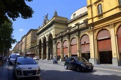 街道视图波隆纳意大利 免版税库存图片
