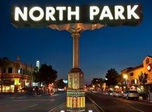 街道视图霓虹灯广告都市风景 库存图片