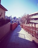 街道视图- Fujimizaka 图库摄影